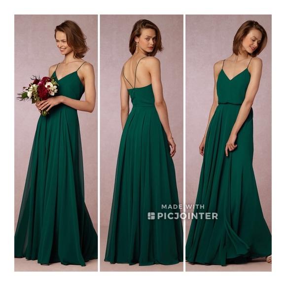 1bec48d1efd BHLDN Inesse Green Emerald Dress 6 Jenny Yoo